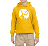 Happy Halloween Bat Kids Hoodies-Hoodies-Gildan-Gold-YS (5-6 Year)-Daataadirect