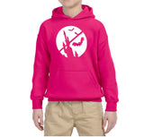 Happy Halloween Bat Kids Hoodies-Hoodies-Gildan-Heliconia-YS (5-6 Year)-Daataadirect