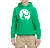 Happy Halloween Bat Kids Hoodies-Hoodies-Gildan-Irish Green-YS (5-6 Year)-Daataadirect