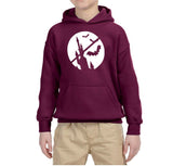 Happy Halloween Bat Kids Hoodies-Hoodies-Gildan-Maroon-YS (5-6 Year)-Daataadirect