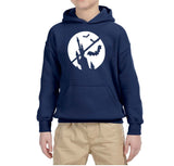 Happy Halloween Bat Kids Hoodies-Hoodies-Gildan-Navy-YS (5-6 Year)-Daataadirect