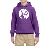 Happy Halloween Bat Kids Hoodies-Hoodies-Gildan-Purple-YS (5-6 Year)-Daataadirect