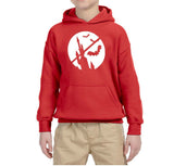 Happy Halloween Bat Kids Hoodies-Hoodies-Gildan-Red-YS (5-6 Year)-Daataadirect