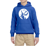 Happy Halloween Bat Kids Hoodies-Hoodies-Gildan-Royal Blue-YS (5-6 Year)-Daataadirect