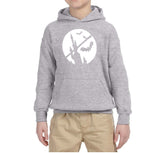 Happy Halloween Bat Kids Hoodies-Hoodies-Gildan-Sport Grey-YS (5-6 Year)-Daataadirect