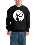 Happy Halloween Bat Kids SweatShirt-Gildan-Daataadirect.co.uk