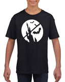 Happy Halloween Bat Kids T Shirts-Gildan-Daataadirect.co.uk