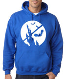Happy Halloween Bat Men Hoodies-Gildan-Daataadirect.co.uk