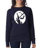 Happy Halloween Bat Women SweatShirt-ANVIL-Daataadirect.co.uk