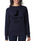 Happy Halloween frequent flyer Womens SweatShirt Black-ANVIL-Daataadirect.co.uk
