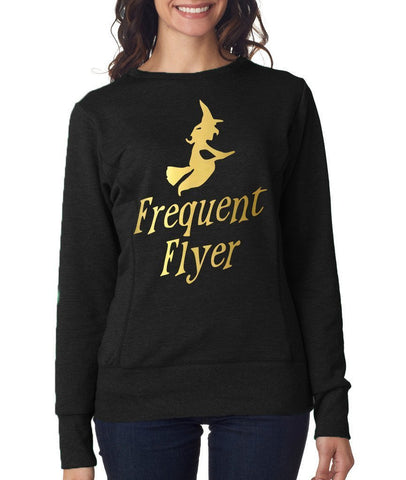 Happy Halloween frequent flyer Womens SweatShirt Gold-ANVIL-Daataadirect.co.uk