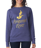 "Happy Halloween frequent flyer Womens SweatShirt Gold-SweatShirts-ANVIL-Heather Blue-S UK 10 Euro 34 Bust 32""-Daataadirect"