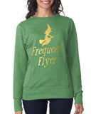 "Happy Halloween frequent flyer Womens SweatShirt Gold-SweatShirts-ANVIL-Heather Green-S UK 10 Euro 34 Bust 32""-Daataadirect"