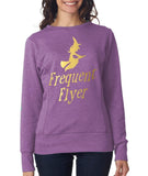 "Happy Halloween frequent flyer Womens SweatShirt Gold-SweatShirts-ANVIL-Heather Purple-S UK 10 Euro 34 Bust 32""-Daataadirect"