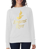 "Happy Halloween frequent flyer Womens SweatShirt Gold-SweatShirts-ANVIL-White-S UK 10 Euro 34 Bust 32""-Daataadirect"