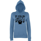 "Happy Halloween if you've got it haunt it Womens Hoodies Black-Hoodies-AWD-Airforce Blue-XS UK 8 Euro 32 Bust 30""-Daataadirect"