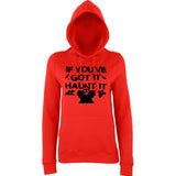"Happy Halloween if you've got it haunt it Womens Hoodies Black-Hoodies-AWD-Fire Red-XS UK 8 Euro 32 Bust 30""-Daataadirect"