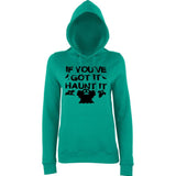"Happy Halloween if you've got it haunt it Womens Hoodies Black-Hoodies-AWD-Jade-XS UK 8 Euro 32 Bust 30""-Daataadirect"