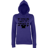 "Happy Halloween if you've got it haunt it Womens Hoodies Black-Hoodies-AWD-Purple-XS UK 8 Euro 32 Bust 30""-Daataadirect"