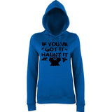 "Happy Halloween if you've got it haunt it Womens Hoodies Black-Hoodies-AWD-Royal Blue-XS UK 8 Euro 32 Bust 30""-Daataadirect"