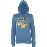 "Happy Halloween if you've got it haunt it Womens Hoodies Gold-Hoodies-AWD-Airforce Blue-XS UK 8 Euro 32 Bust 30""-Daataadirect"