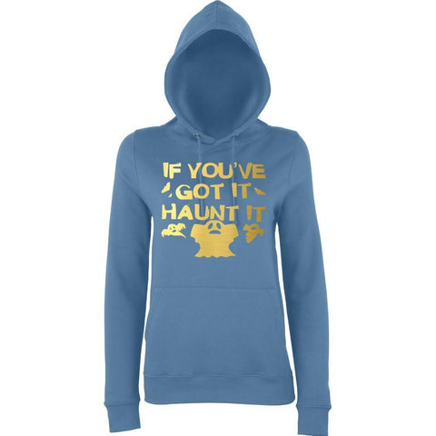 Happy Halloween if you've got it haunt it Womens Hoodies Gold-AWD-Daataadirect.co.uk