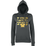 "Happy Halloween if you've got it haunt it Womens Hoodies Gold-Hoodies-AWD-Charcoal-XS UK 8 Euro 32 Bust 30""-Daataadirect"