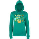 "Happy Halloween if you've got it haunt it Womens Hoodies Gold-Hoodies-AWD-Jade-XS UK 8 Euro 32 Bust 30""-Daataadirect"