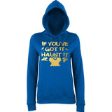 "Happy Halloween if you've got it haunt it Womens Hoodies Gold-Hoodies-AWD-Royal Blue-XS UK 8 Euro 32 Bust 30""-Daataadirect"