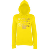 "Happy Halloween if you've got it haunt it Womens Hoodies Gold-Hoodies-AWD-Sun Yellow-XS UK 8 Euro 32 Bust 30""-Daataadirect"