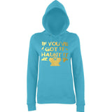 "Happy Halloween if you've got it haunt it Womens Hoodies Gold-Hoodies-AWD-Turquoise Surf-XS UK 8 Euro 32 Bust 30""-Daataadirect"