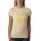 "Happy Halloween if you've got it haunt it Womens T Shirts Gold-T Shirts-Gildan-Sand-S UK 10 Euro 34 Bust 32""-Daataadirect"