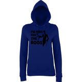 "Happy Halloween I'm here for the boos Womens Hoodies Black-Hoodies-AWD-New French Navy-XS UK 8 Euro 32 Bust 30""-Daataadirect"