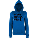 "Happy Halloween I'm here for the boos Womens Hoodies Black-Hoodies-AWD-Royal Blue-XS UK 8 Euro 32 Bust 30""-Daataadirect"