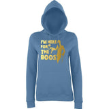 "Happy Halloween I'm here for the Boos Womens Hoodies Gold-Hoodies-AWD-Airforce Blue-XS UK 8 Euro 32 Bust 30""-Daataadirect"