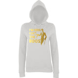 "Happy Halloween I'm here for the Boos Womens Hoodies Gold-Hoodies-AWD-Ash-XS UK 8 Euro 32 Bust 30""-Daataadirect"