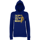 "Happy Halloween I'm here for the Boos Womens Hoodies Gold-Hoodies-AWD-New French Navy-XS UK 8 Euro 32 Bust 30""-Daataadirect"
