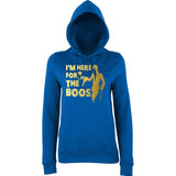 "Happy Halloween I'm here for the Boos Womens Hoodies Gold-Hoodies-AWD-Royal Blue-XS UK 8 Euro 32 Bust 30""-Daataadirect"