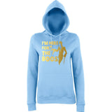 "Happy Halloween I'm here for the Boos Womens Hoodies Gold-Hoodies-AWD-Sky Blue-XS UK 8 Euro 32 Bust 30""-Daataadirect"