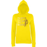 "Happy Halloween I'm here for the Boos Womens Hoodies Gold-Hoodies-AWD-Sun Yellow-XS UK 8 Euro 32 Bust 30""-Daataadirect"