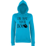 Happy Halloween I'm not your boo Womens Hoodies Black-Daataadirect