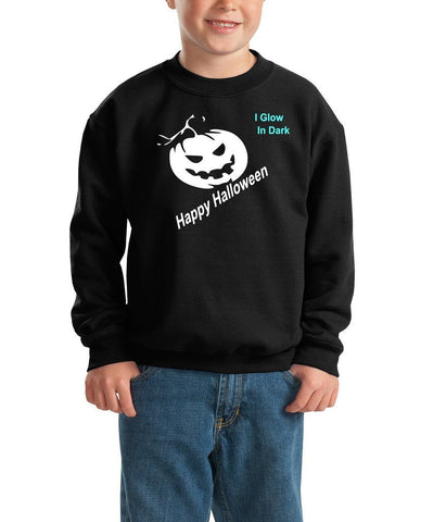 Happy Halloween jackee scary face Kids SweatShirt-SweatShirts-Gildan-Black-YXS (3-5 Year)-Daataadirect