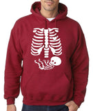 "Happy Halloween skelton xray Men Hoodies-Hoodies-Gildan-Antique Cherry -S To Fit Chest 36-38"" (91-96cm)-Daataadirect"