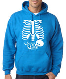 "Happy Halloween skelton xray Men Hoodies-Hoodies-Gildan-Antique Sapphire-S To Fit Chest 36-38"" (91-96cm)-Daataadirect"