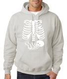 "Happy Halloween skelton xray Men Hoodies-Hoodies-Gildan-Ash-S To Fit Chest 36-38"" (91-96cm)-Daataadirect"