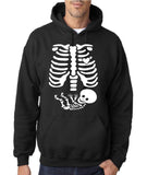 "Happy Halloween skelton xray Men Hoodies-Hoodies-Gildan-Black-S To Fit Chest 36-38"" (91-96cm)-Daataadirect"