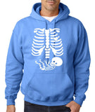 "Happy Halloween skelton xray Men Hoodies-Hoodies-Gildan-Carolina Blue-S To Fit Chest 36-38"" (91-96cm)-Daataadirect"