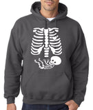 "Happy Halloween skelton xray Men Hoodies-Hoodies-Gildan-Charcoal-S To Fit Chest 36-38"" (91-96cm)-Daataadirect"