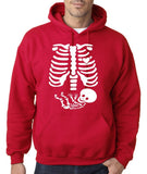 "Happy Halloween skelton xray Men Hoodies-Hoodies-Gildan-Cherry Red-S To Fit Chest 36-38"" (91-96cm)-Daataadirect"