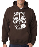 "Happy Halloween skelton xray Men Hoodies-Hoodies-Gildan-Dk Chocolate-S To Fit Chest 36-38"" (91-96cm)-Daataadirect"